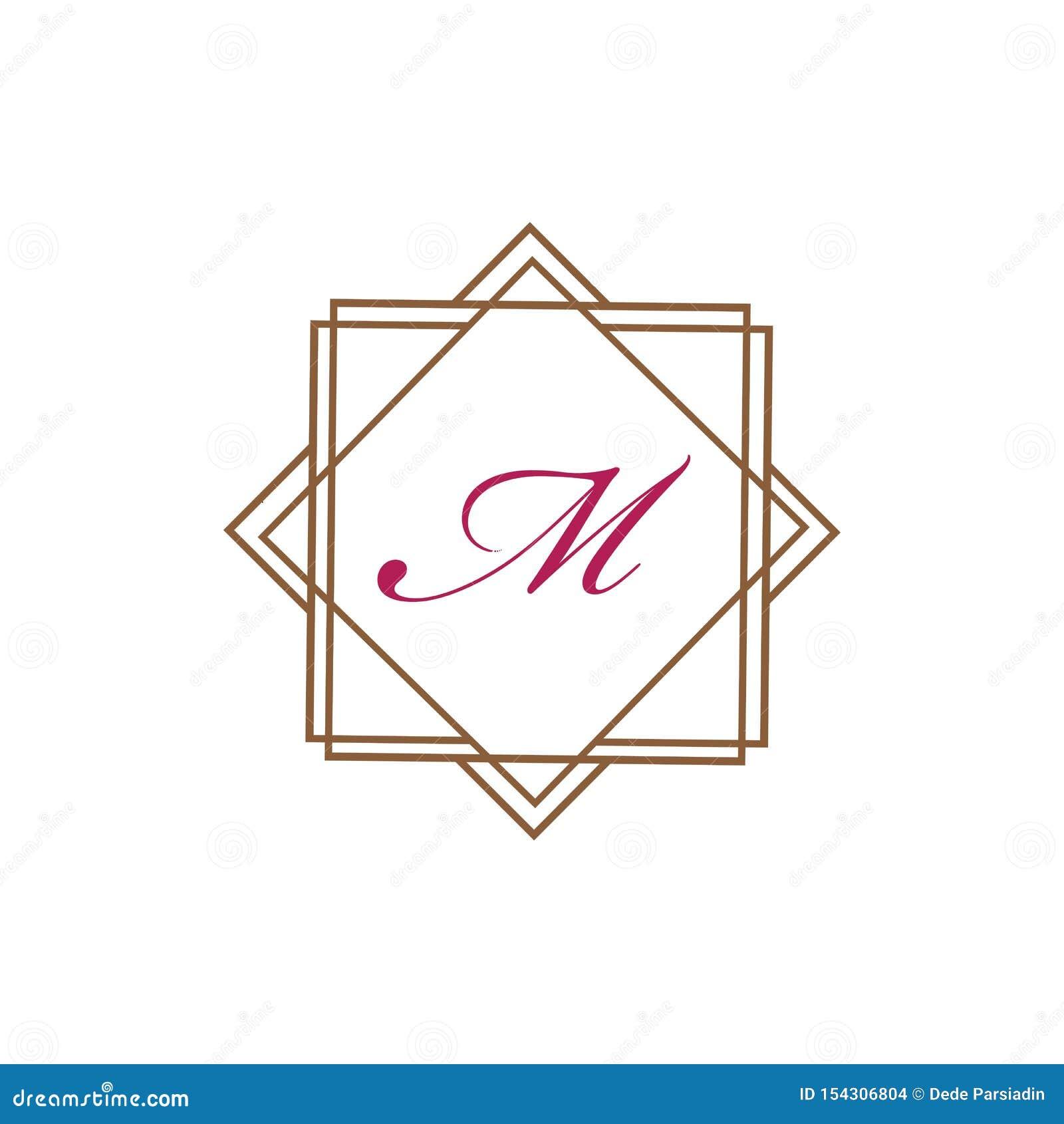 Vector het embleemontwerpsjabloon van de brievenm Business collectieve abstracte eenheid