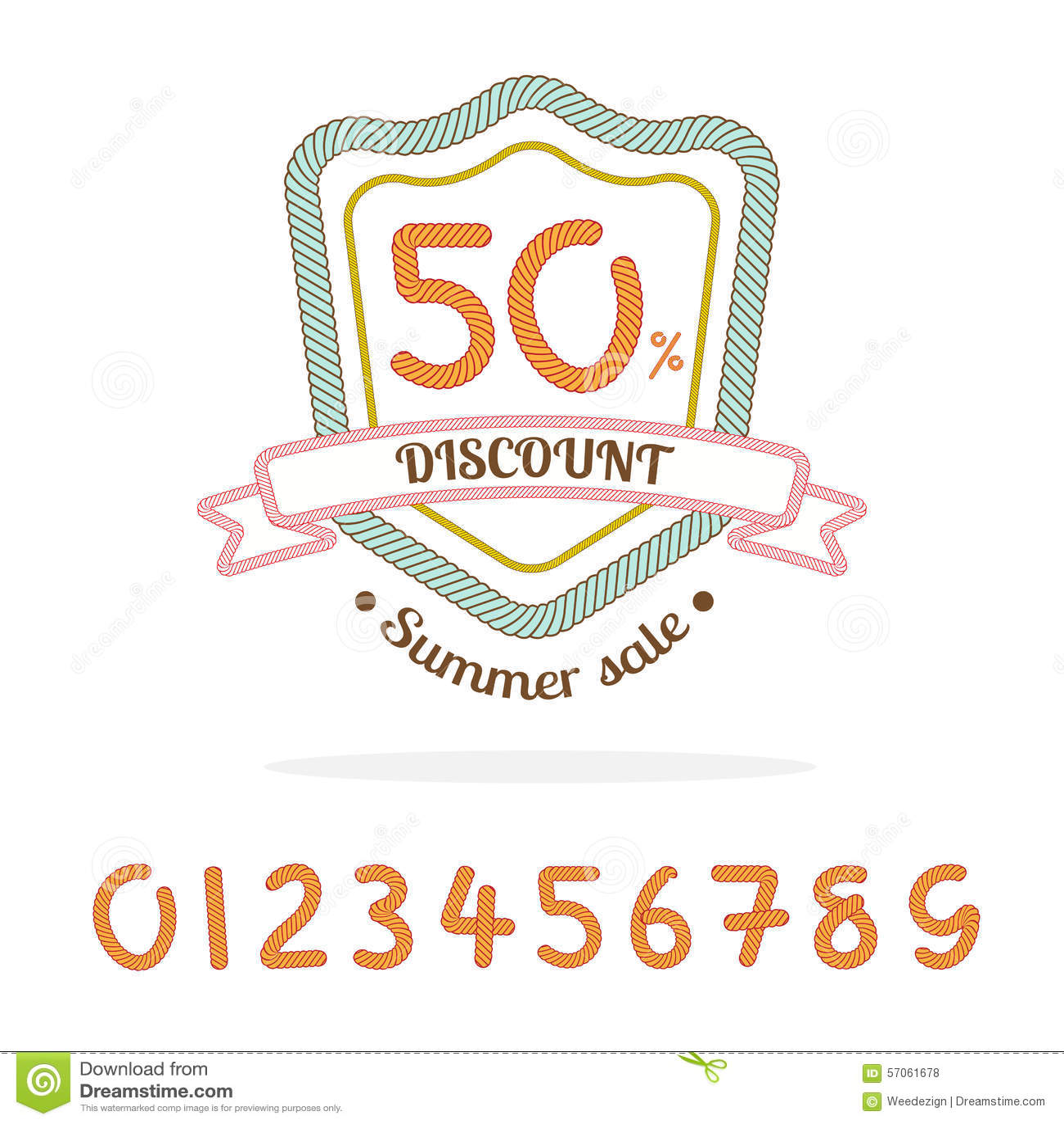 Vector: Het kentekenembleem van de kabelverkoop, Bonus: 0-9 aantal voor gemaakte verkoop p