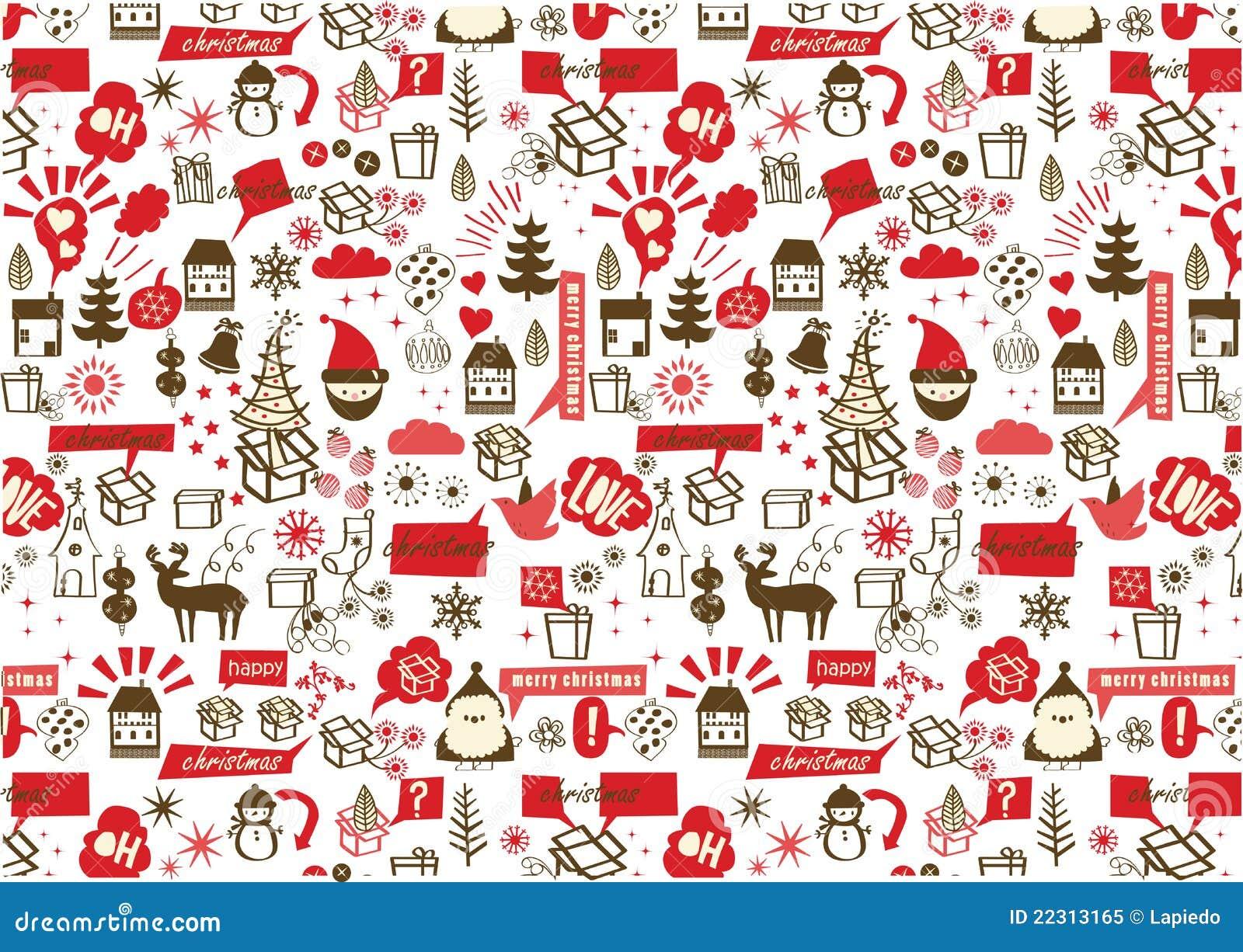 Vector - het naadloze patroon van Kerstmis