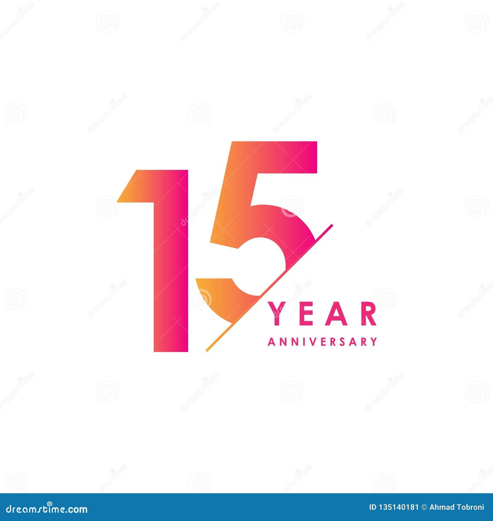 Vector het Ontwerpillustratie van de 15 Jaarverjaardag