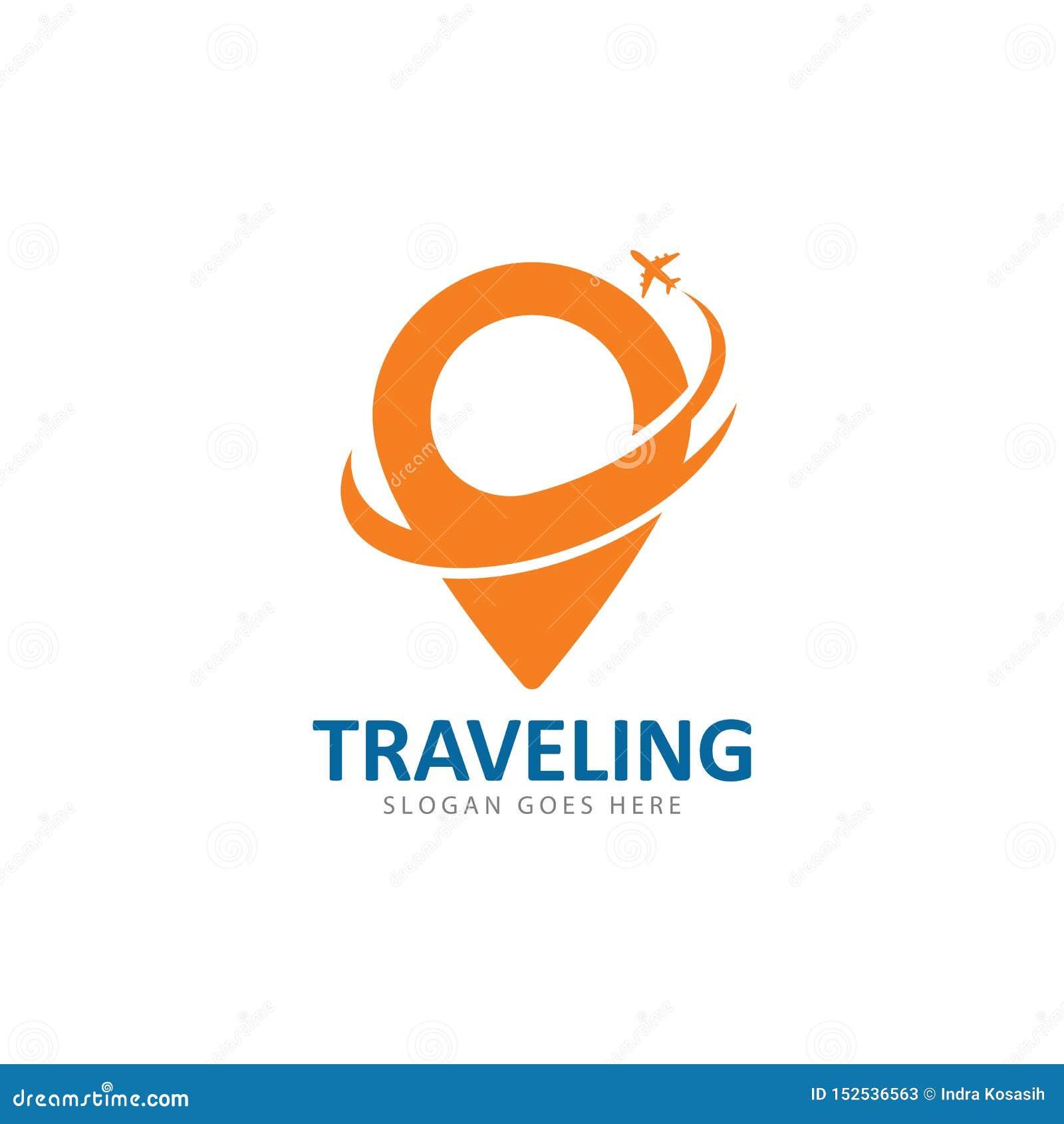 Vector het pictogrammalplaatje van het reisembleem