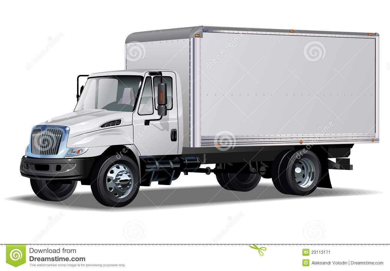 Vector Hi Detailed Commercial Truck Stock Image Image