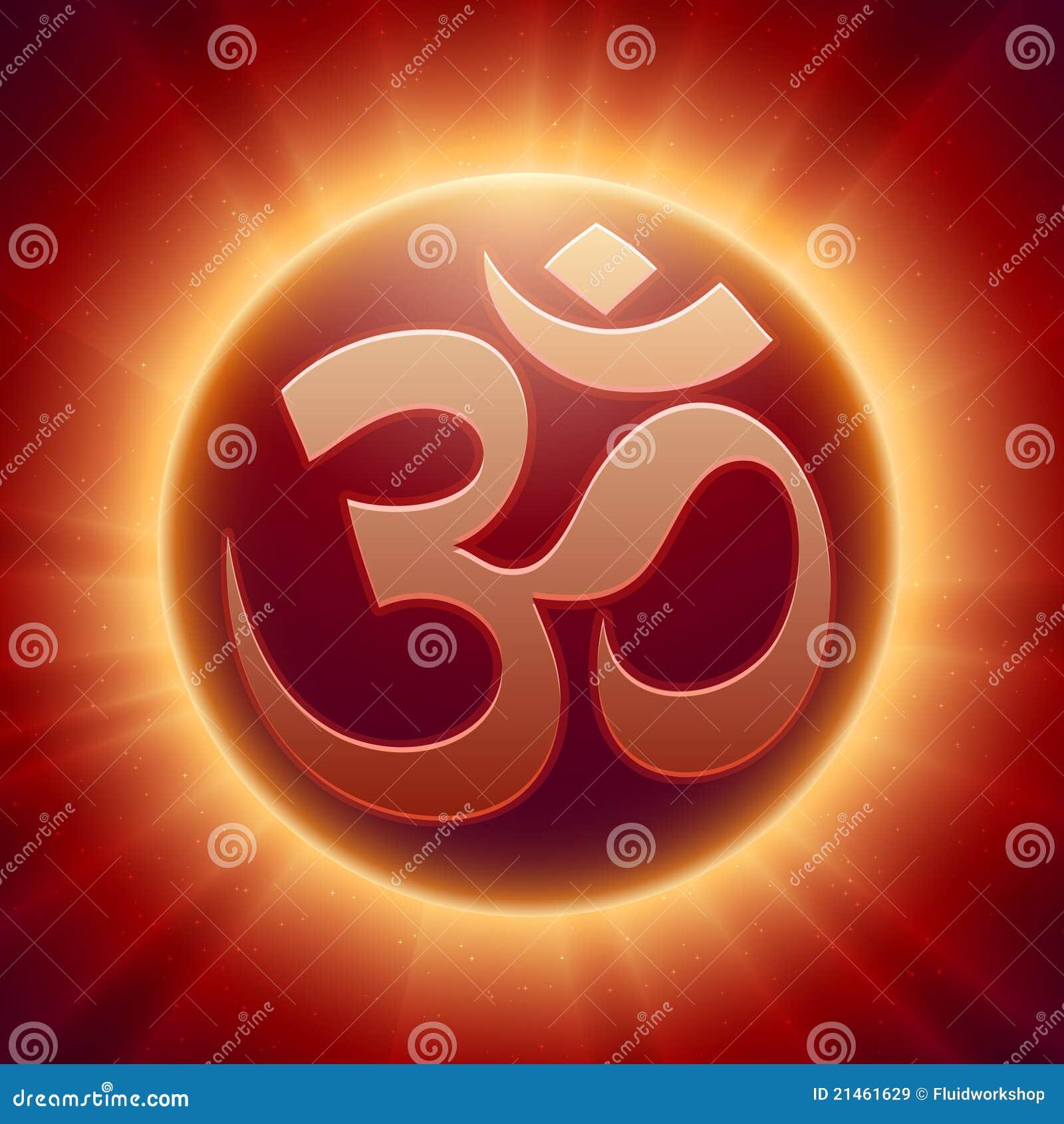 Vector Hindoes Om Symbool Vector Illustratie Afbeelding