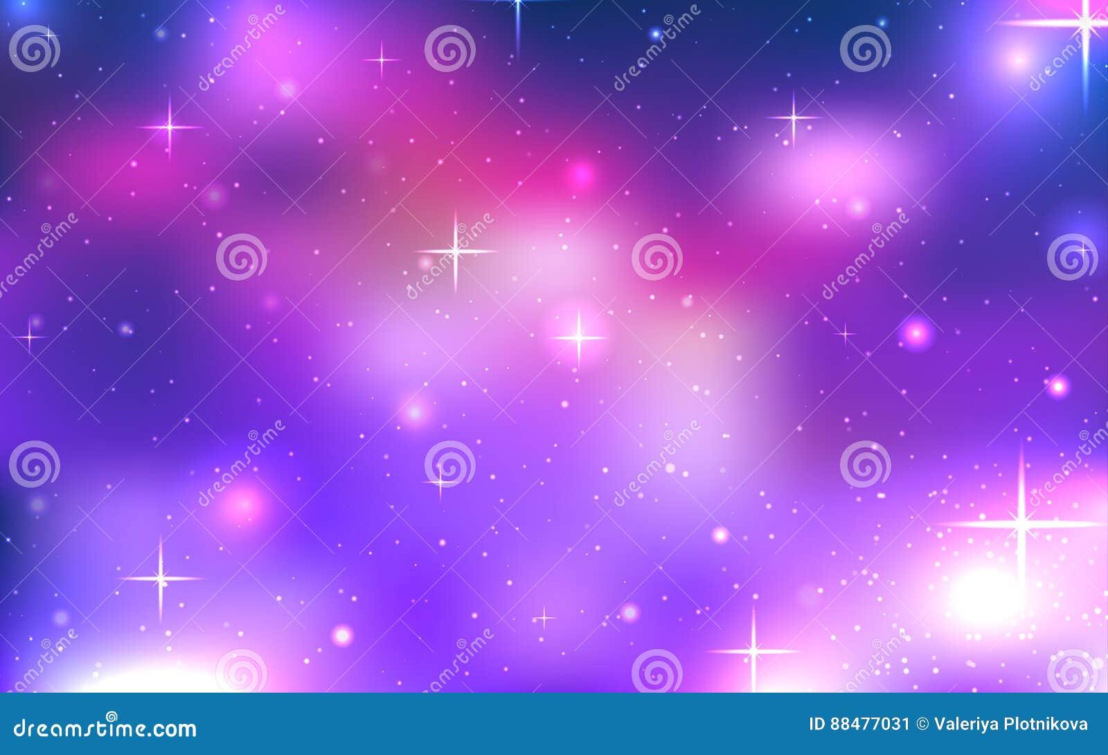 Vector Hintergrund des Raumes mit Sternen und Nebelfleck