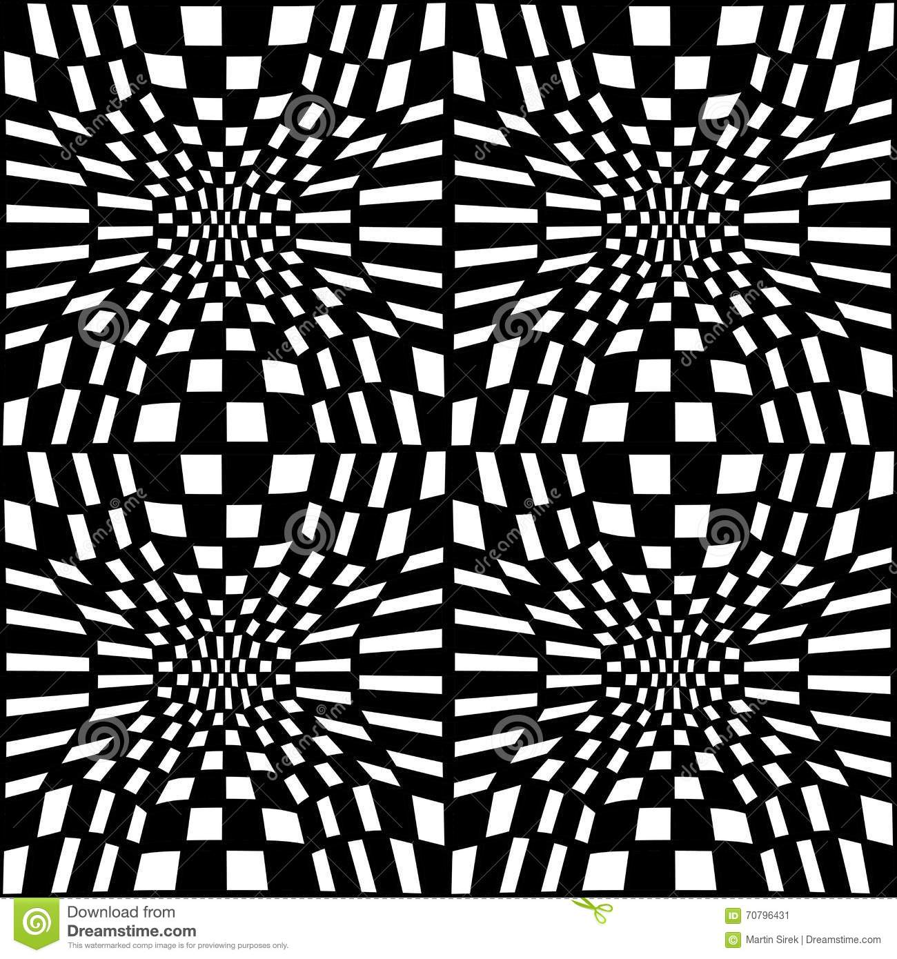 Vector Hipster Abstract Geometry Trippy Pattern With 3d Illusion Black And White Seamless Geometric Background
