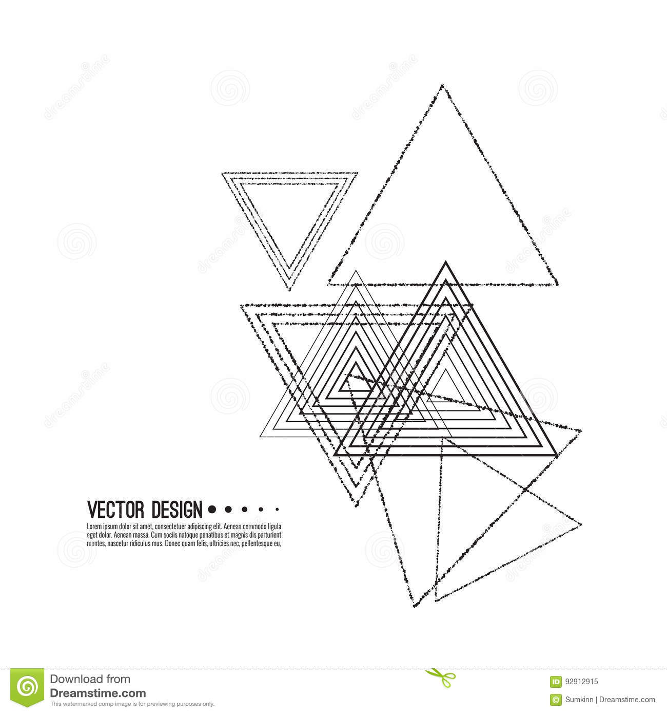 Vector Hipster Triangle Background. Cartoon Vector ...