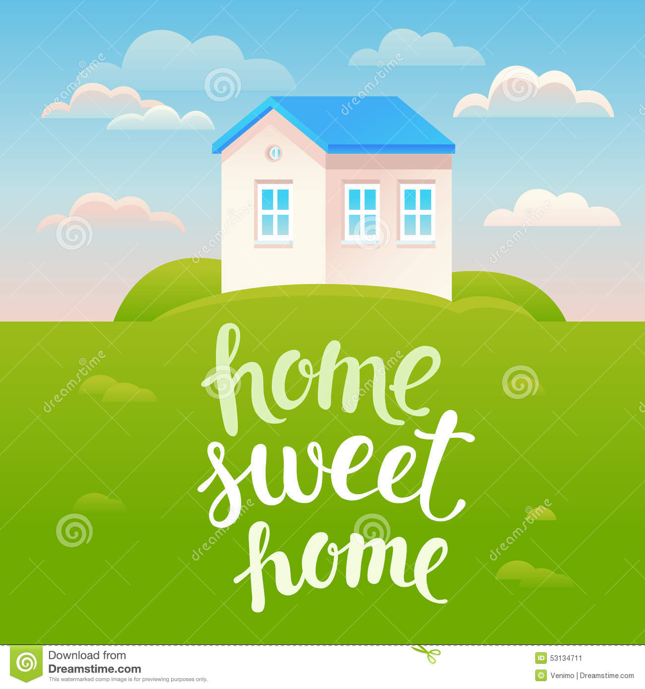 Vector home sweet home poster stock vector image 53134711 for Ome images