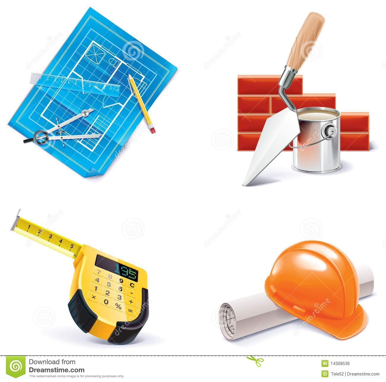 Vector homebuilding renovating icon set part 3 royalty for Homebuilding com