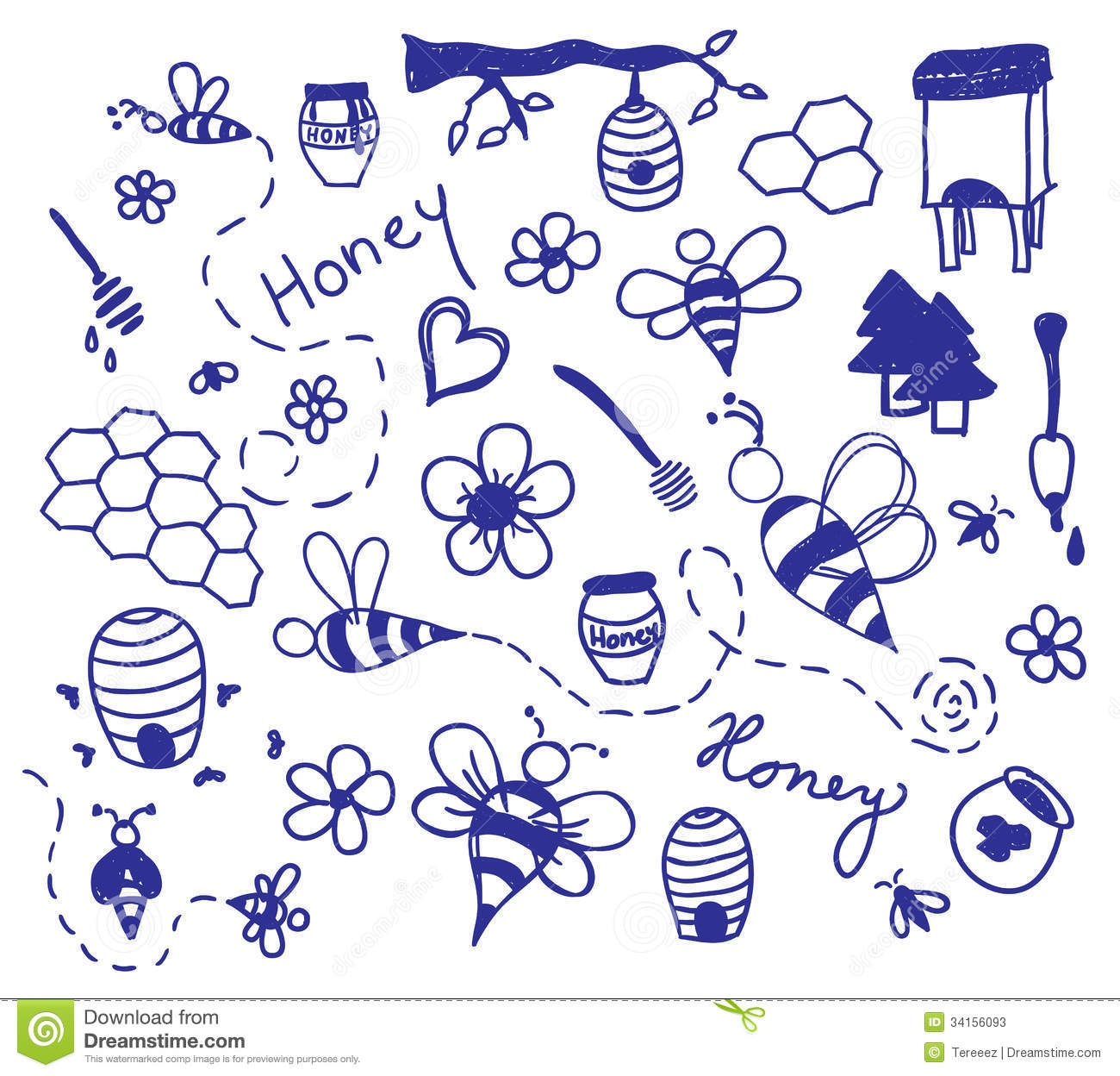 vector honey drawing stock vector  illustration of nature