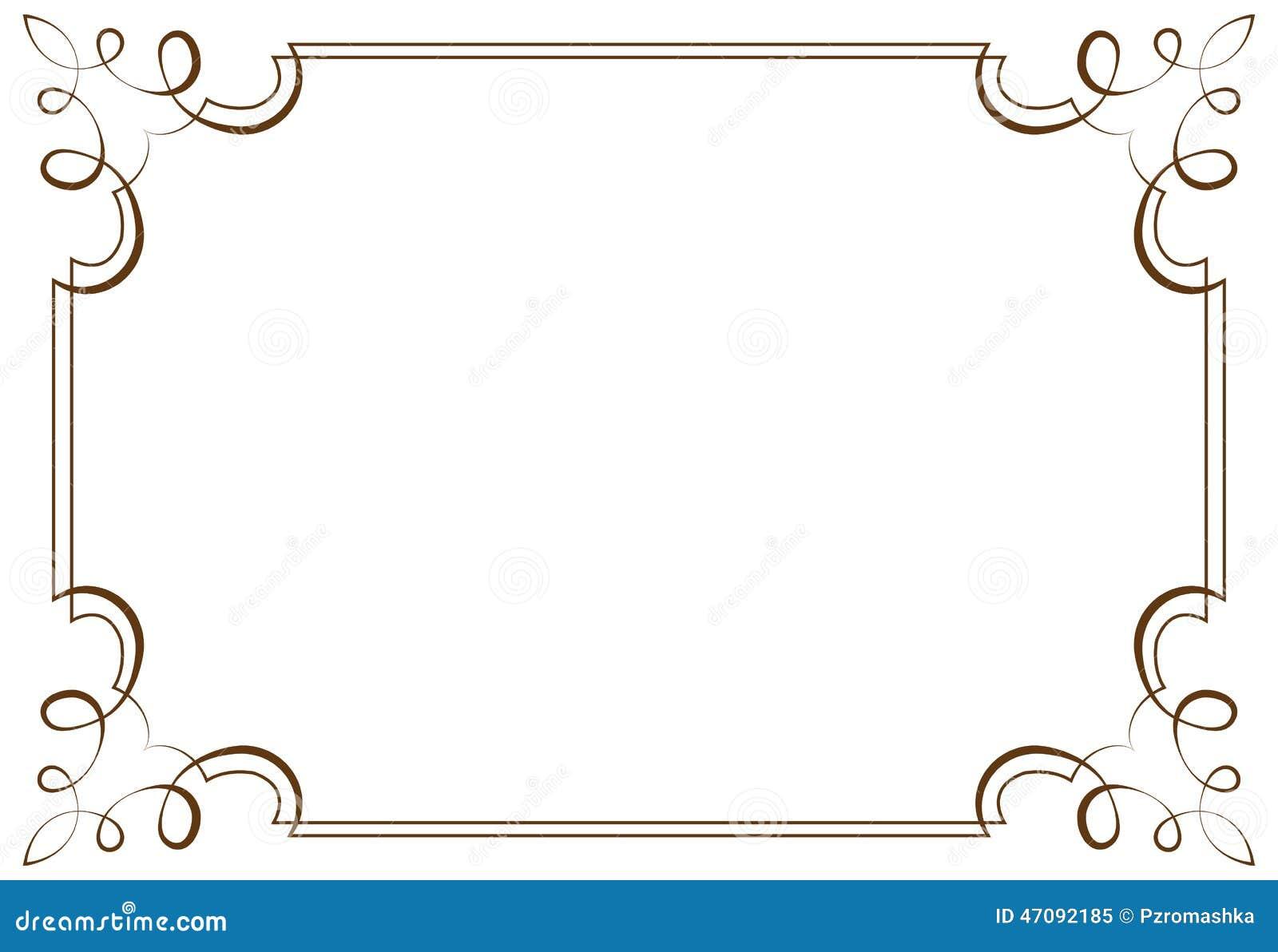 Vector Horizontal Frame. Element For Design Illustration 47092185 ...