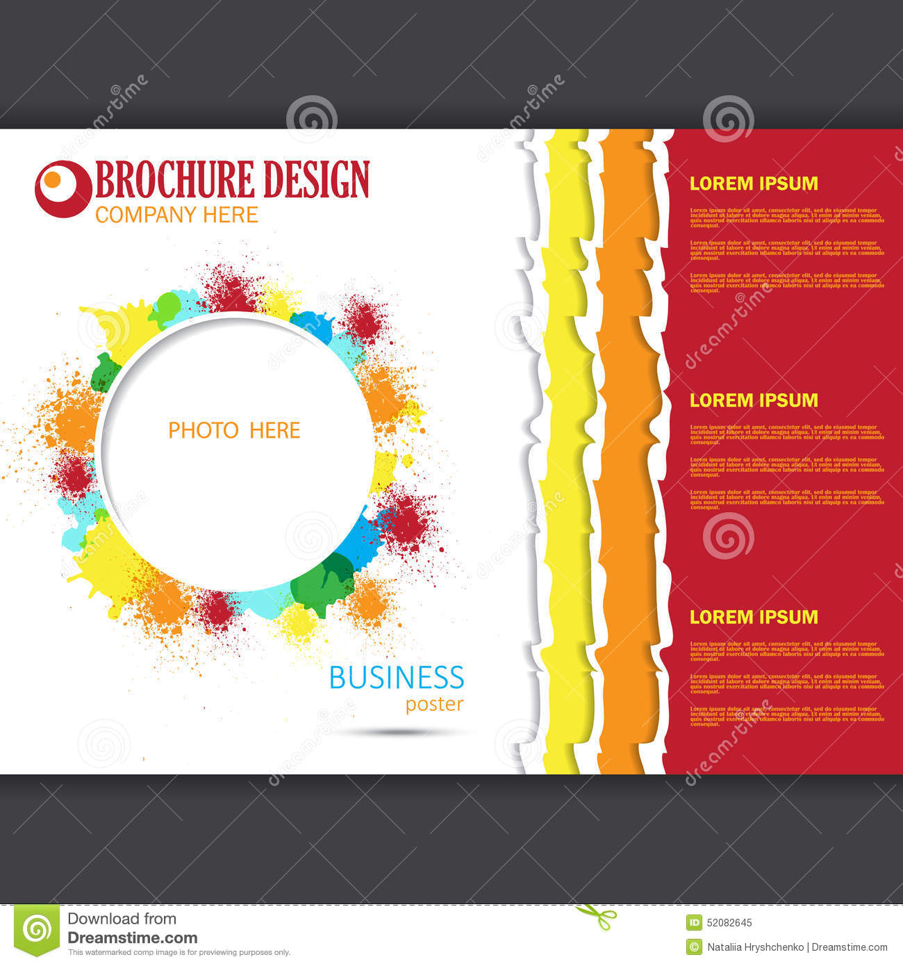 Poster design layout templates - Vector Horizontal Presentation Of Business Poster Royalty Free Stock Photo