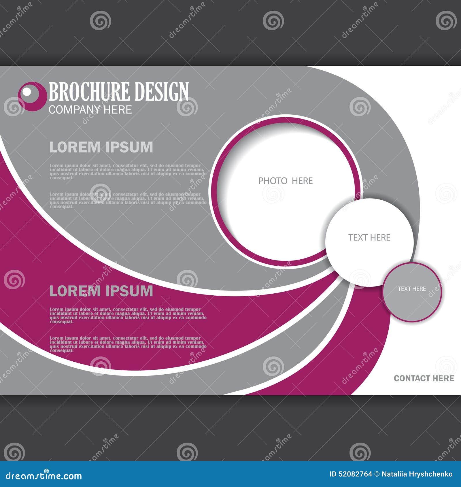 vector horizontal presentation of business poster stock