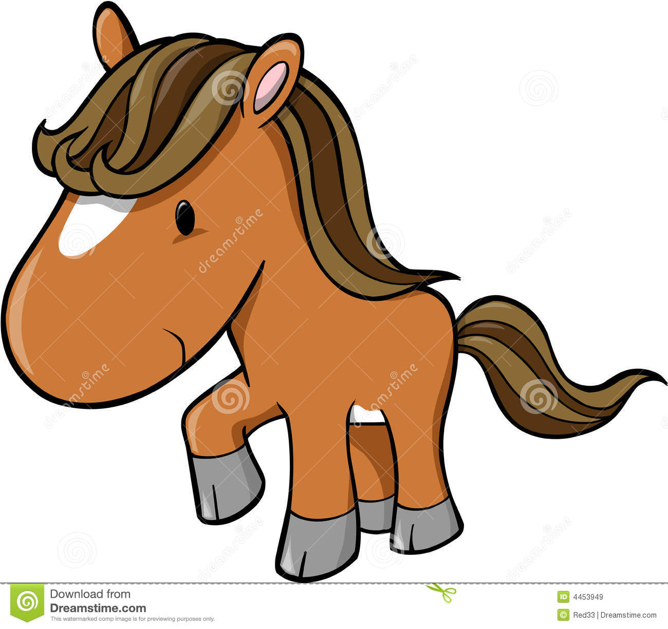vector of horse royalty free stock images image 4453949 cute horse clipart cute horse clip art heart