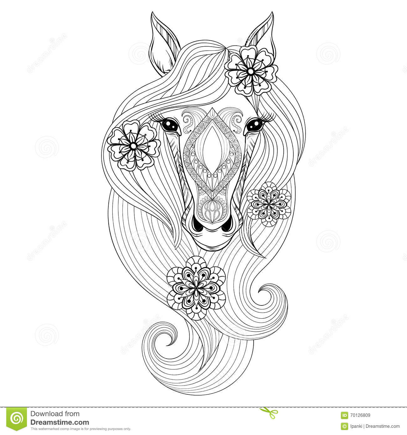 patterned head horse stock illustrations u2013 55 patterned head horse