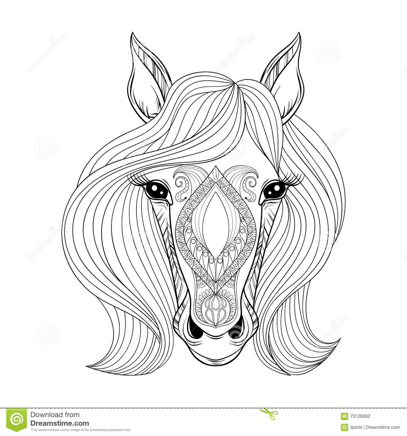 Royalty Free Vector Download Horse Coloring
