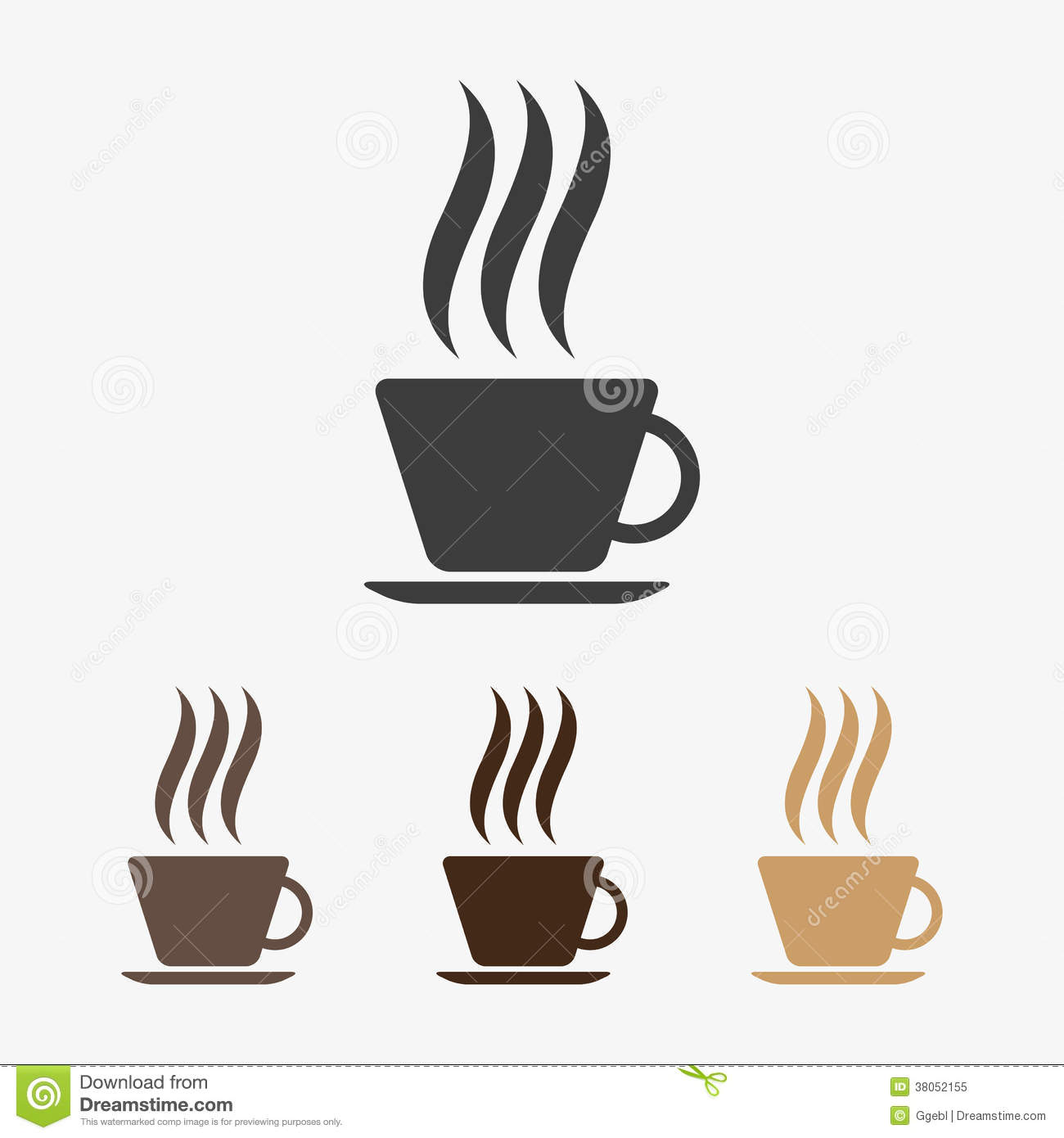 Vector Hot Coffee Icon Royalty Free Stock Photo Image