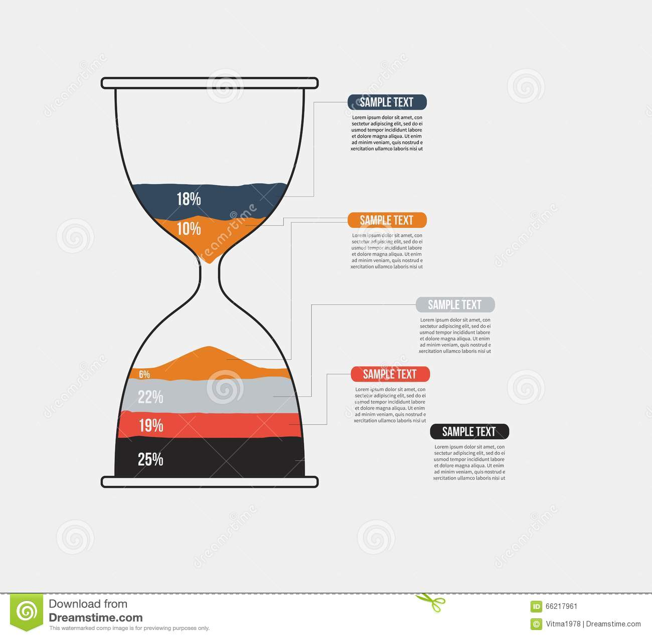 vector hourglass infographic template design business