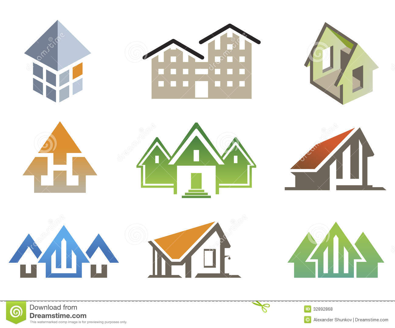 Vector house elements stock vector illustration of architecture 32892868 - Home design elements ...