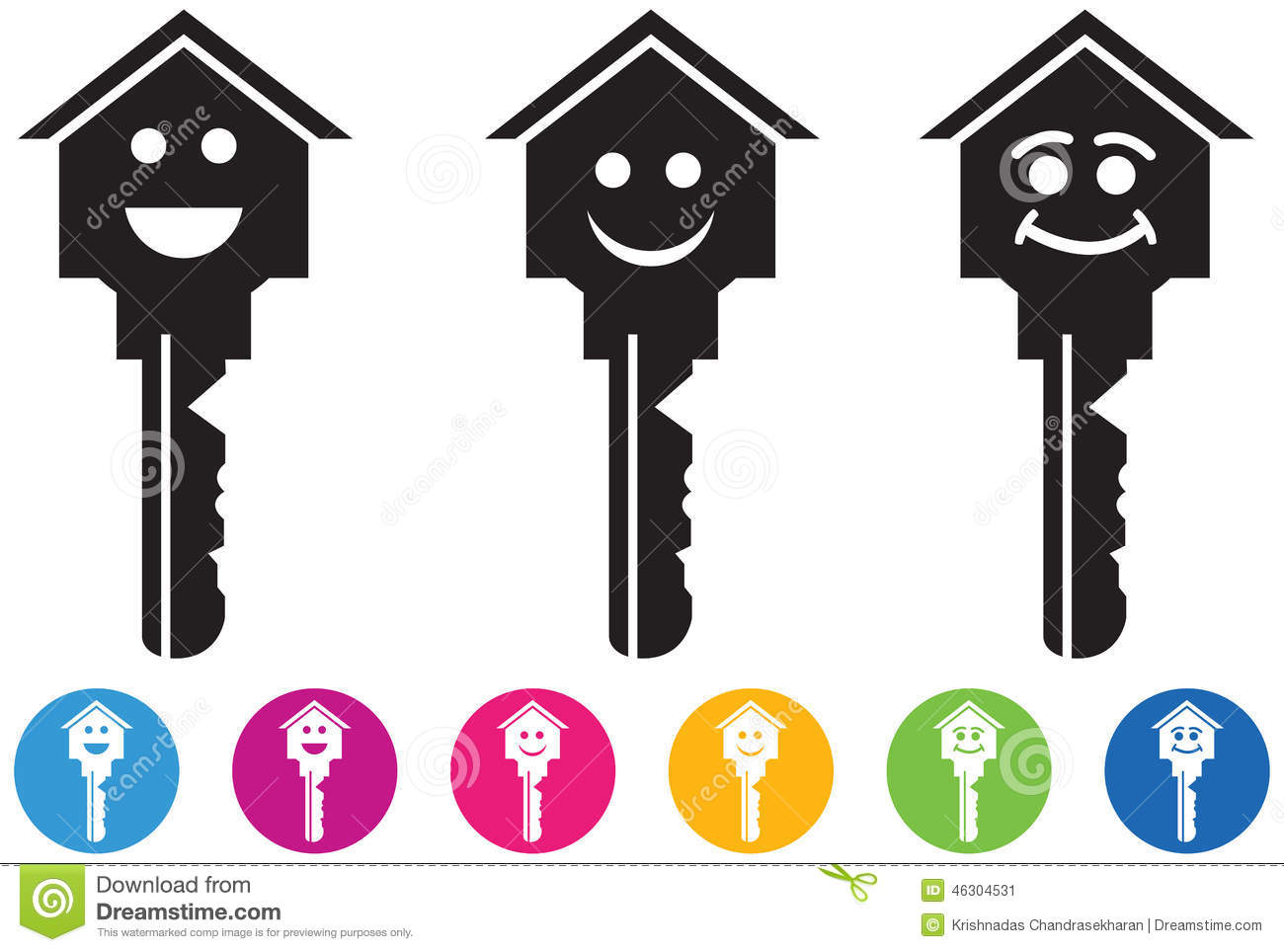royalty free vector download vector of house and key