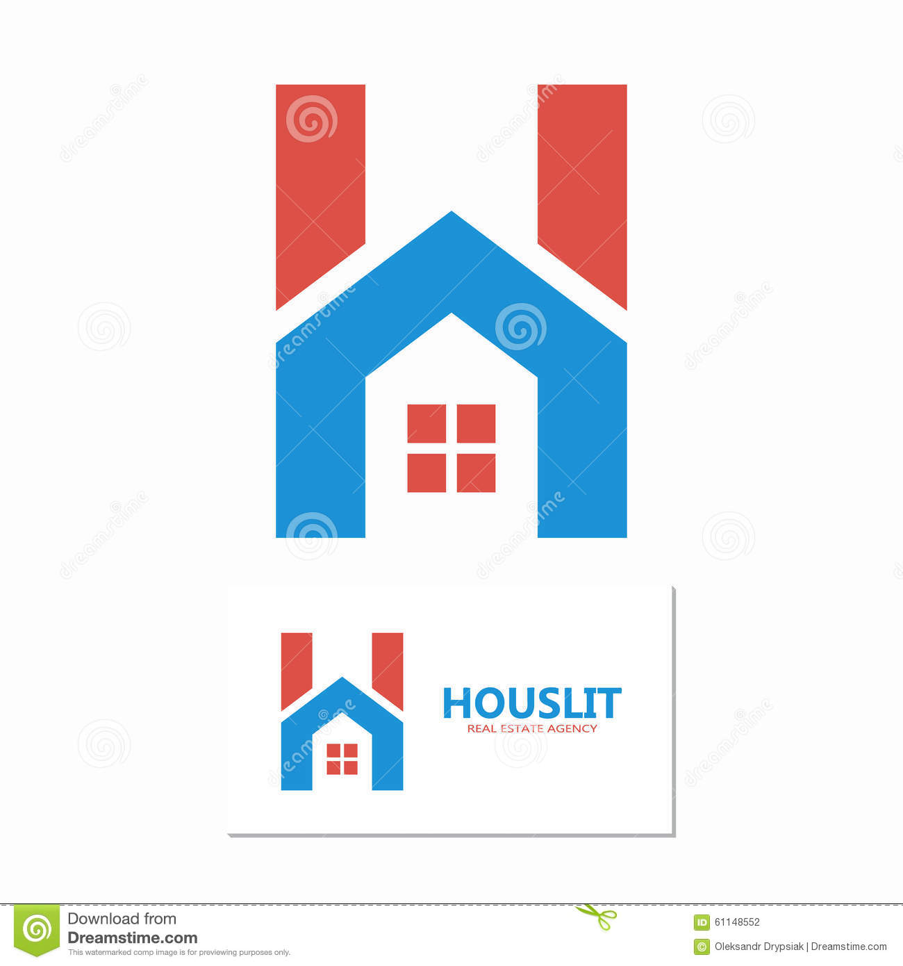 2d23bf81def Vector House With Letter H Logo Stock Vector - Illustration of ...