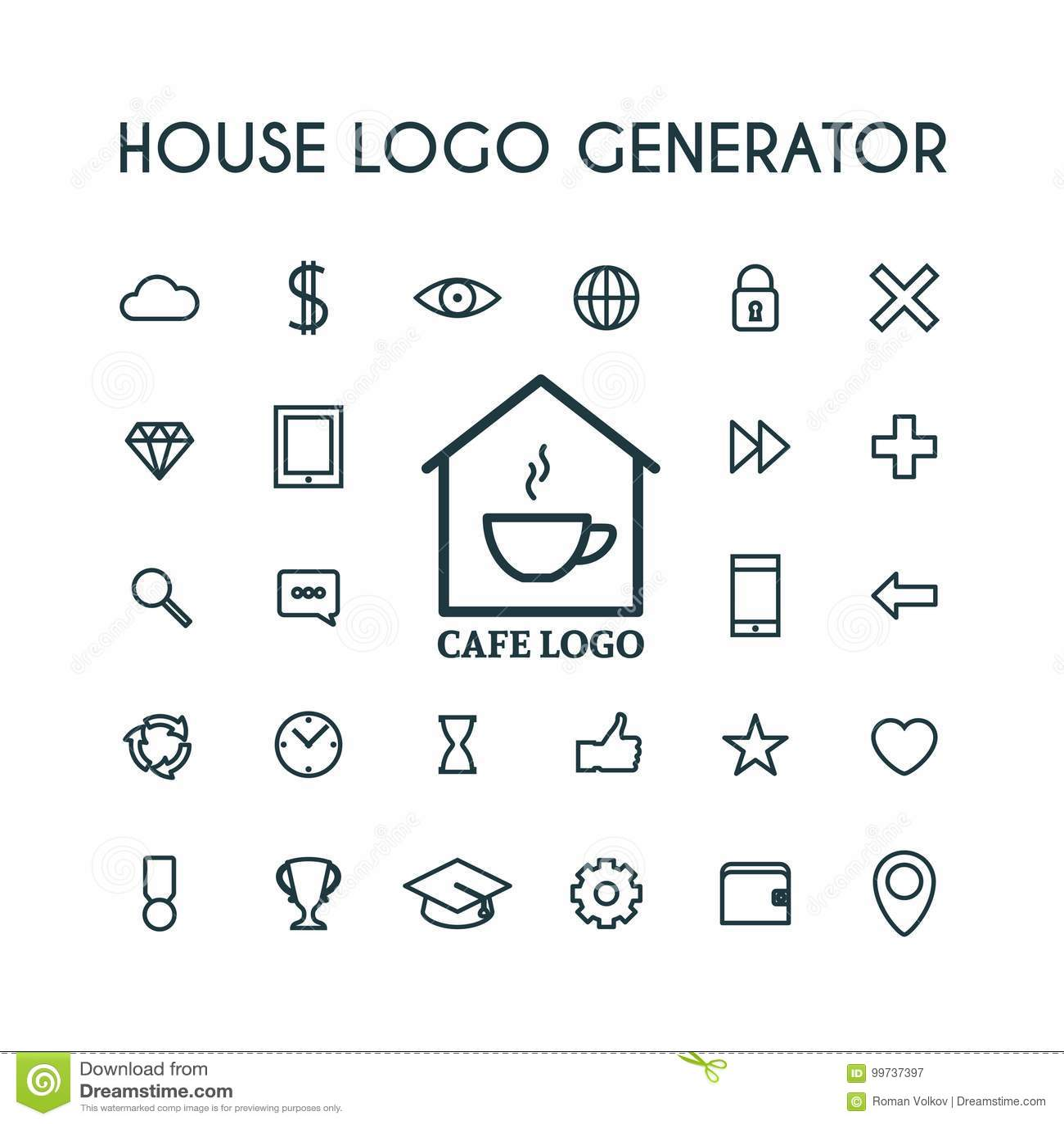 Vector House Logo Generator Stock Vector Illustration Of