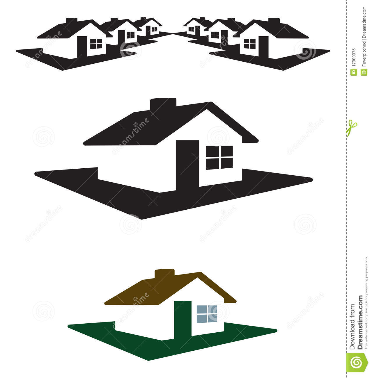 Vector House Logo And Header Royalty Free Stock Photo ...