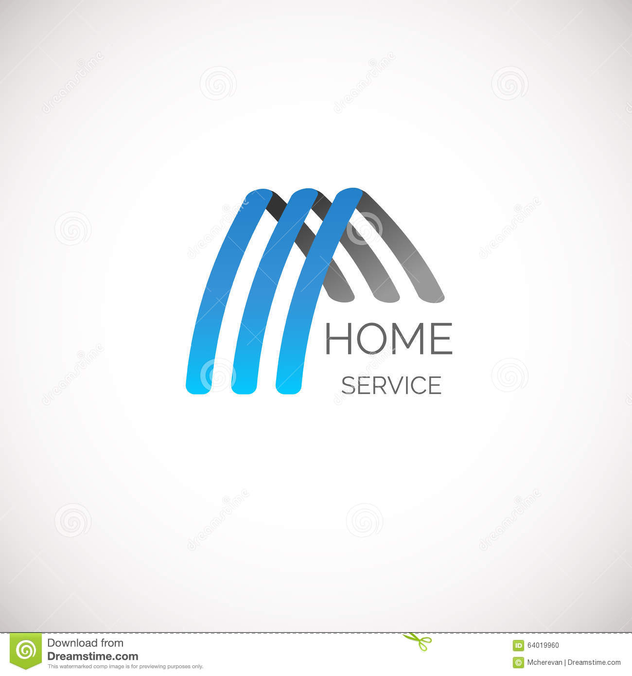 Vector House Logo For Your Company. Good For Home Service, Cleaning ...