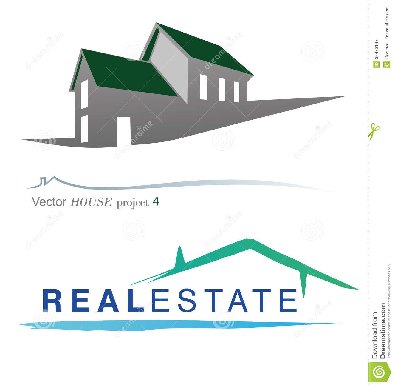 Vector House Project 4 Stock Vector Illustration Of Care