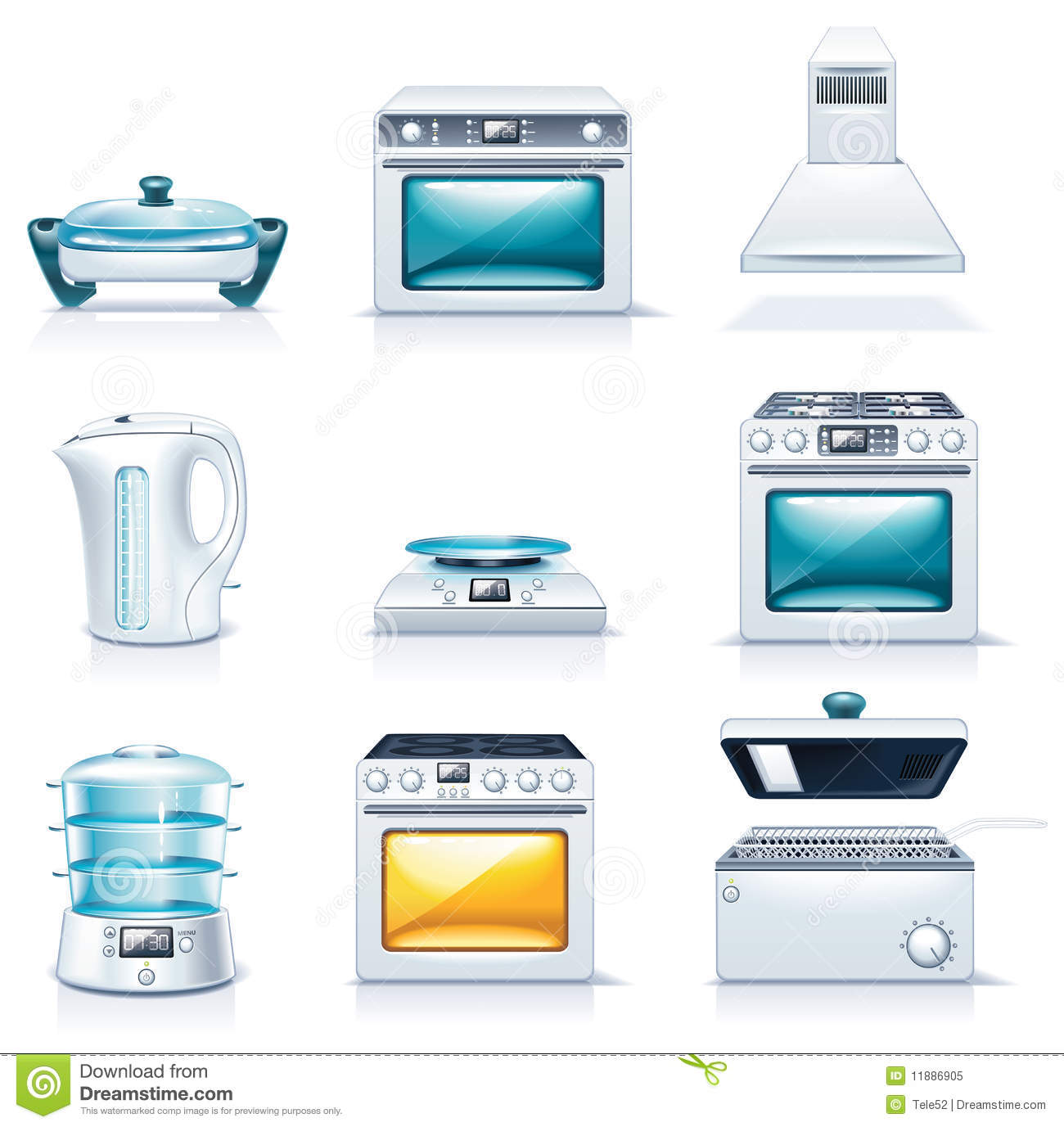 Vector Household Appliances Icons. Part 2 Royalty Free Stock Photo ...