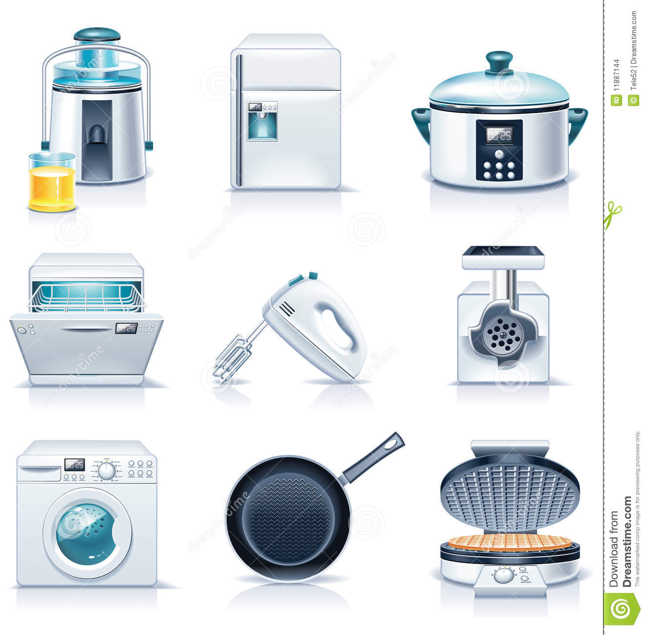 Vector household appliances icons. Part 3