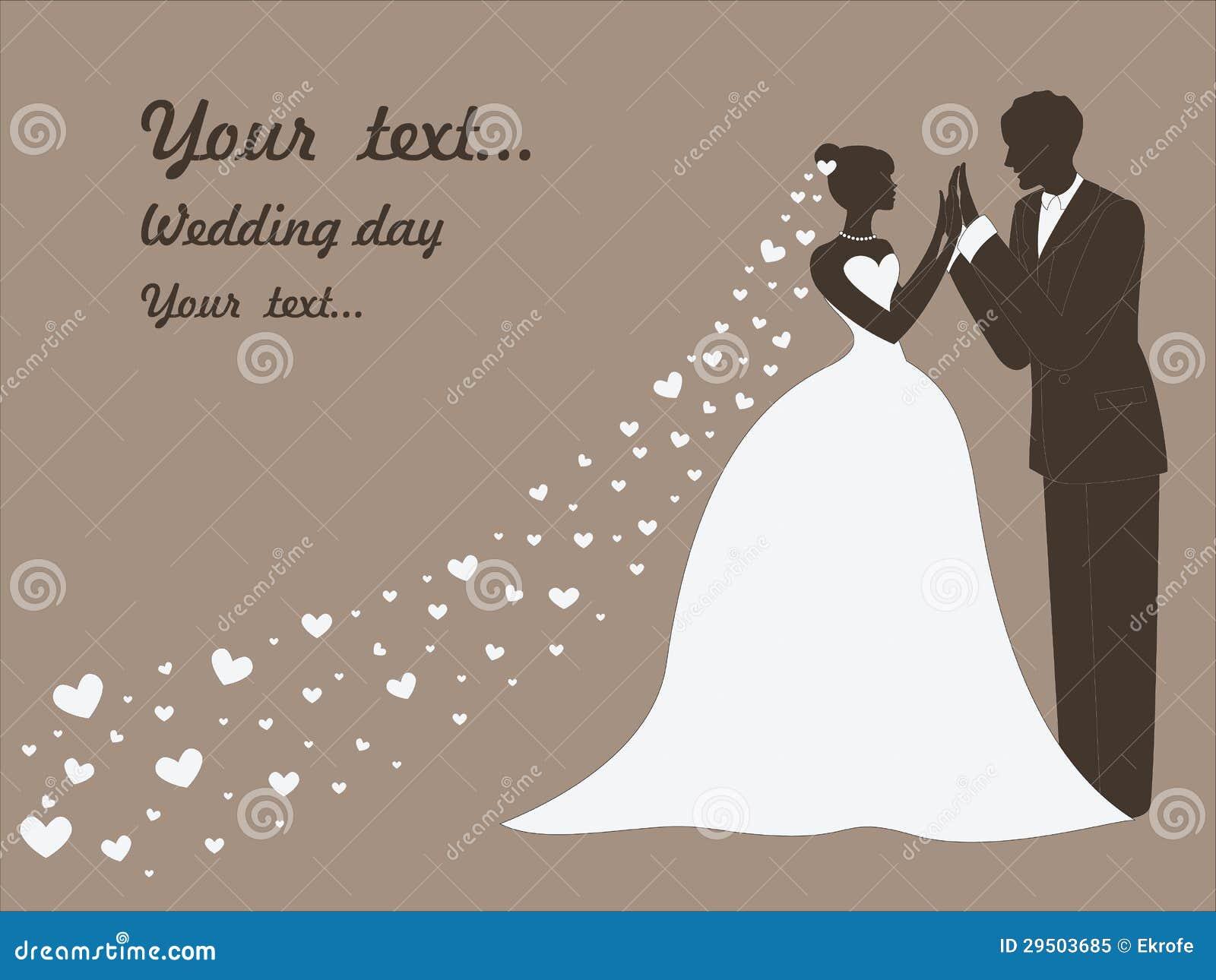Vector huwelijkskaart met echtparen