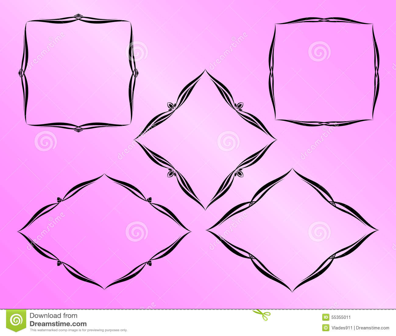 Vector i blocchi per grafici decorativi
