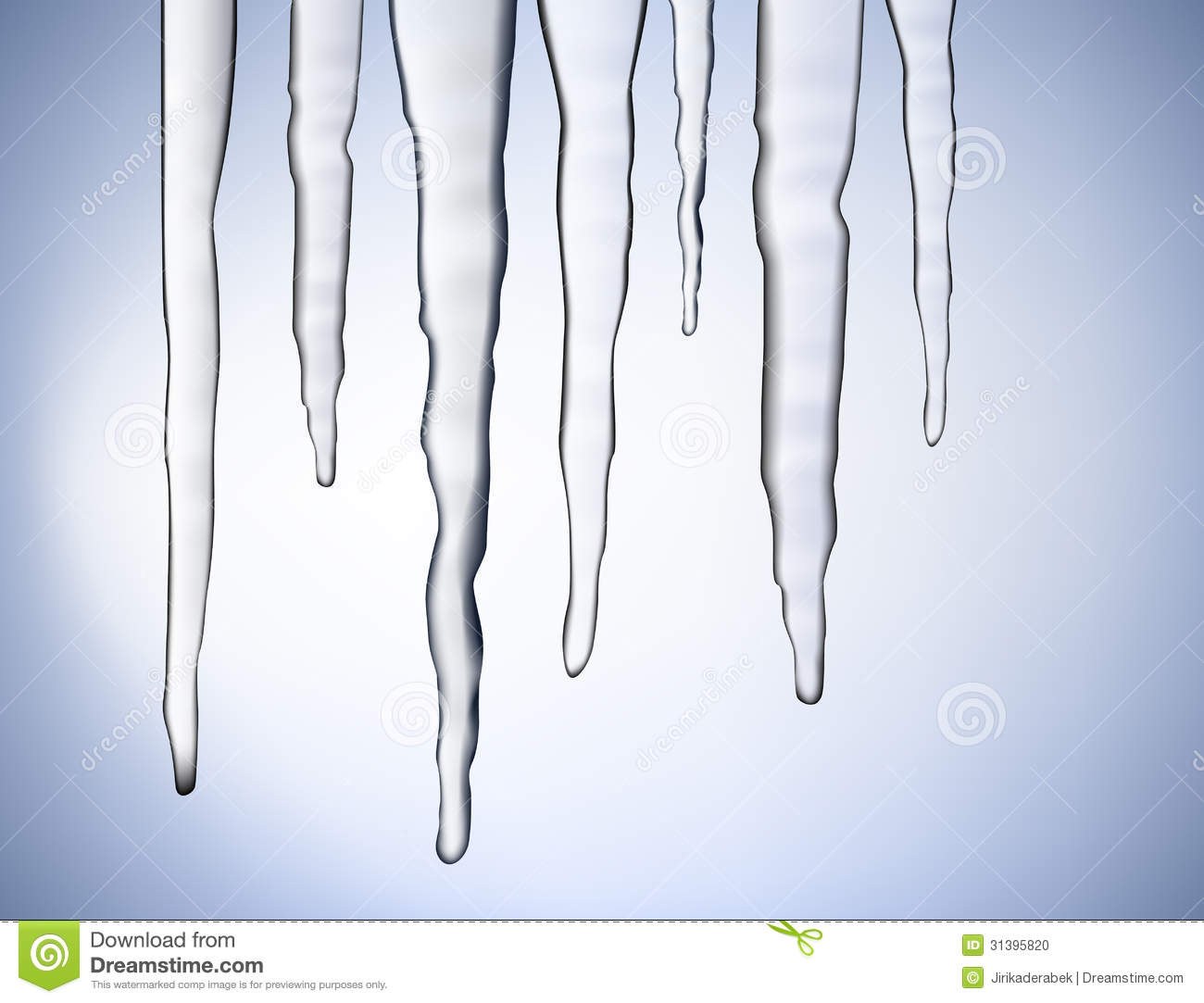 vector icicles stock photo image 31395820