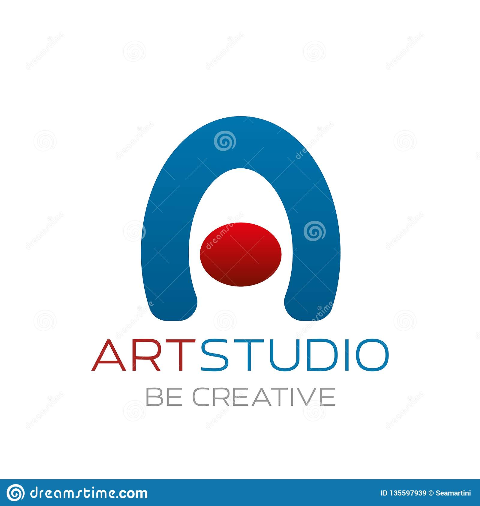 Art Studio Vector Sign Stock Vector Illustration Of Concept
