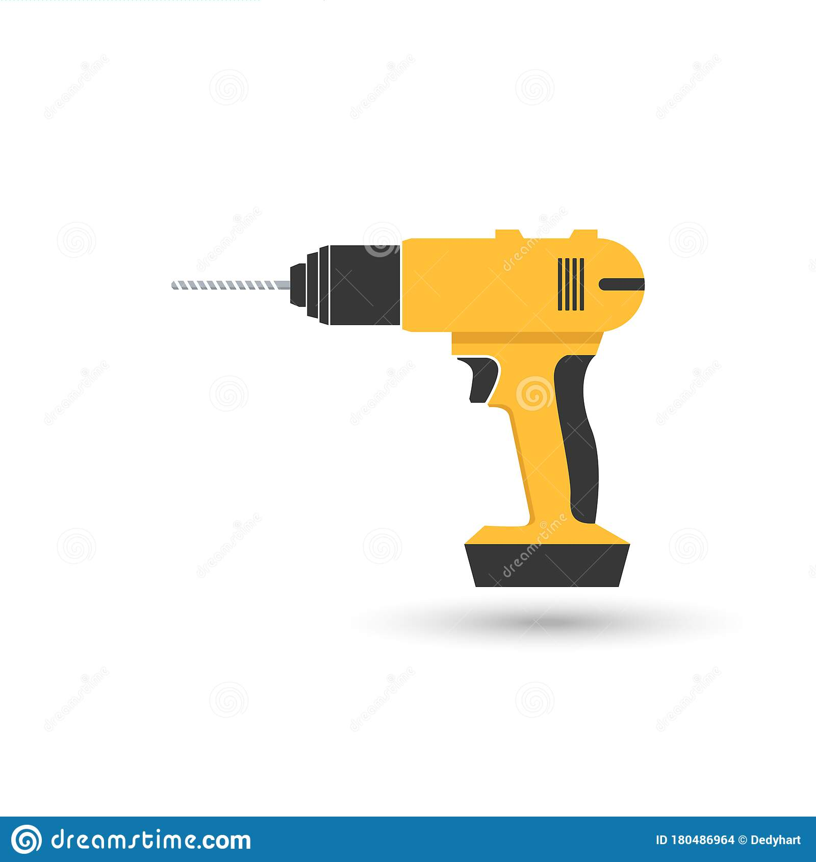 Vector Icon Drill Tools For Repair Tool Kit Sign Stock Vector Illustration Of Electric Handle 180486964