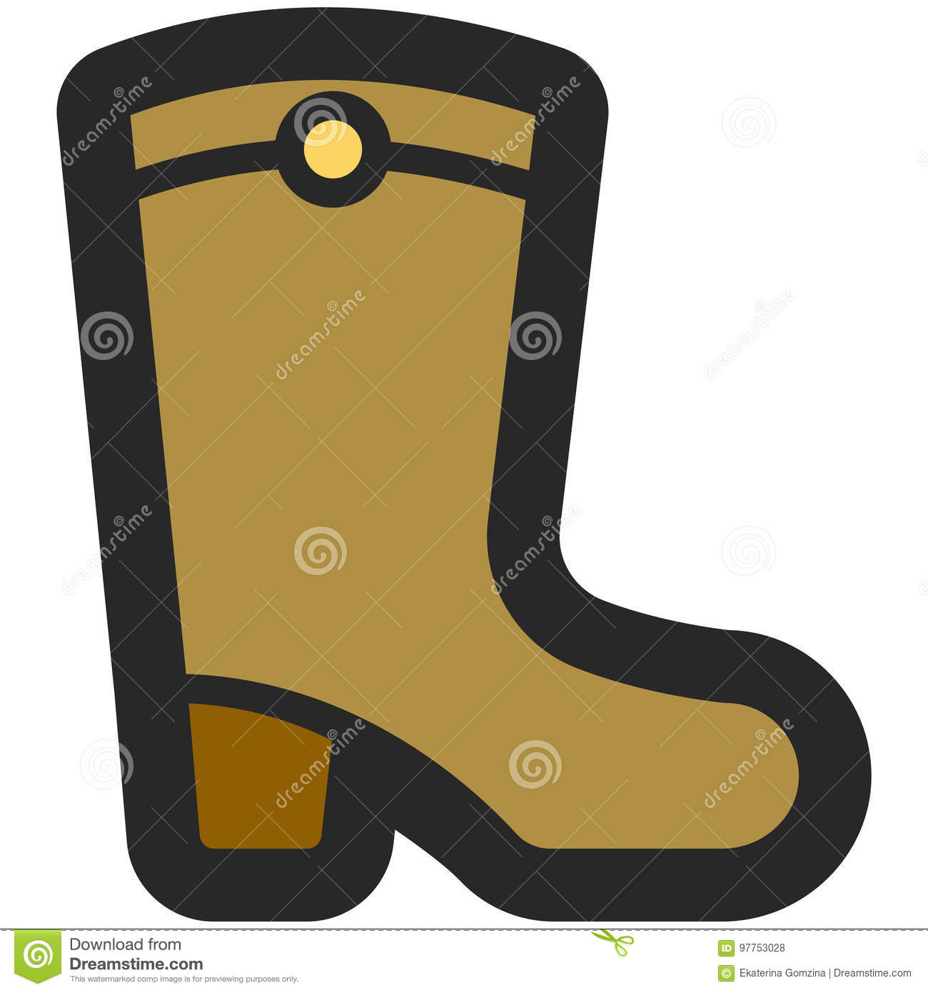 Vector Icon Of A High Boots For Men Or Women In Flat Style