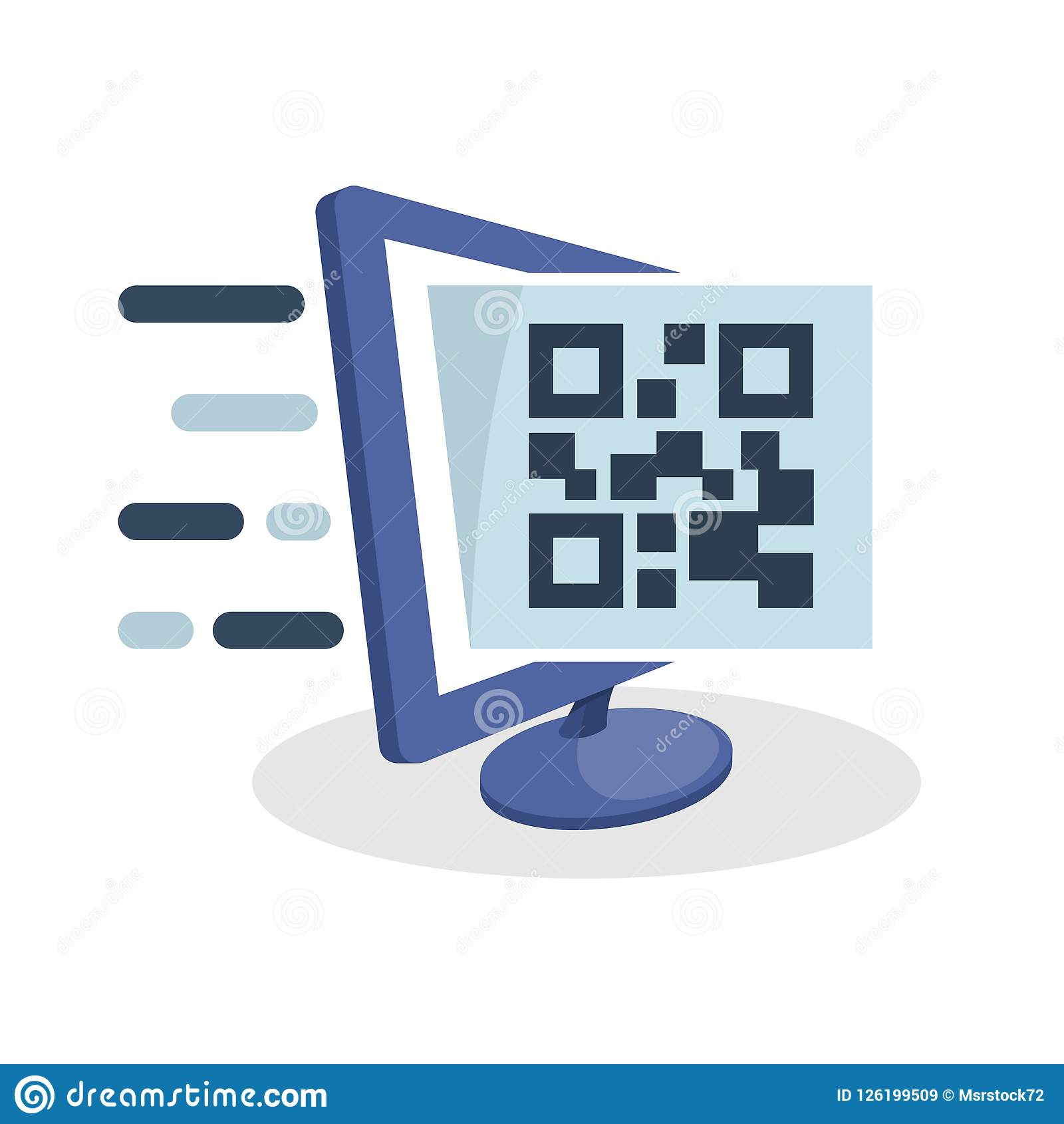 Vector Icon Illustration With Digital Media Concept About