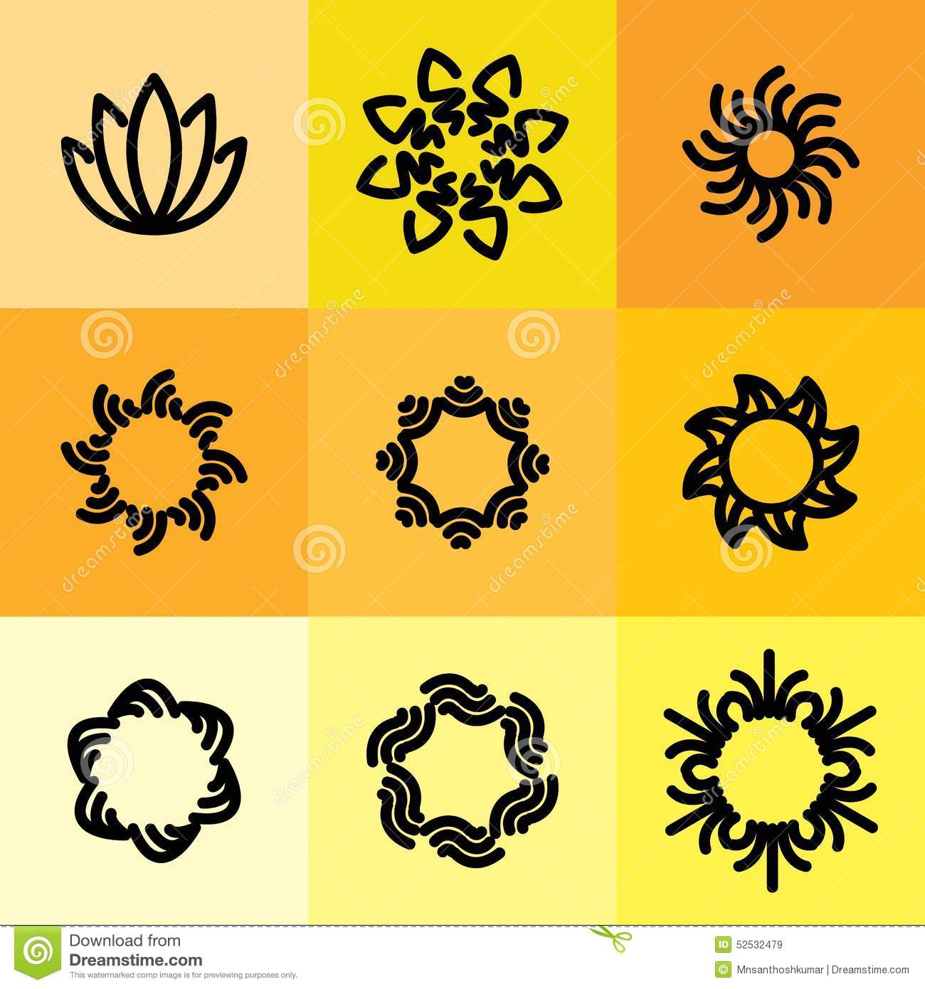Vector Icon Set Of Abstract Frames & Logo Templates In Line