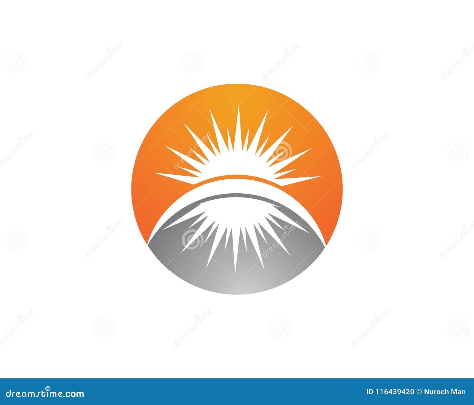 Vector - icono de la estrella de la explosión de Sun