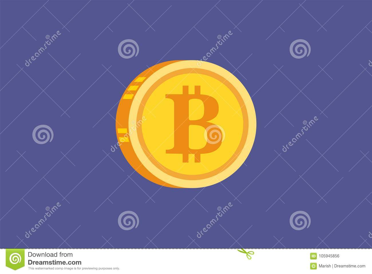 Vector icono digital del concepto del oro de Bitcoin y de Cryptocurrency