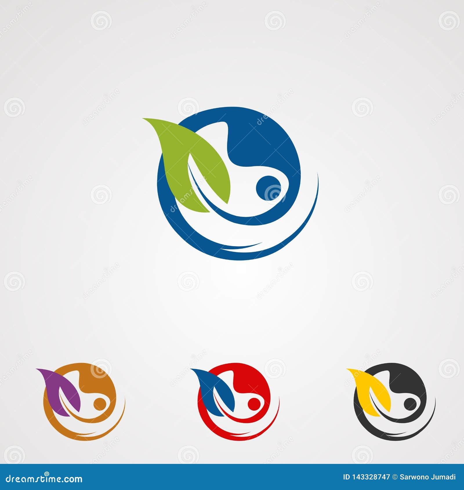 Vector, icono, elemento, y plantilla herbarios naturales del logotipo para el negocio