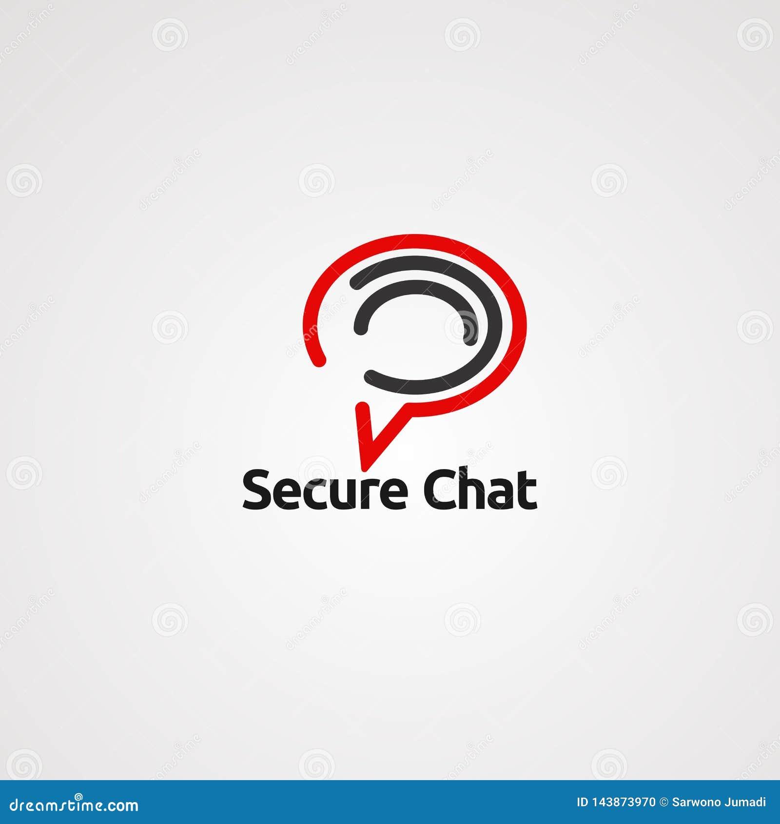 Vector, icono, elemento, y plantilla seguros del logotipo de la charla