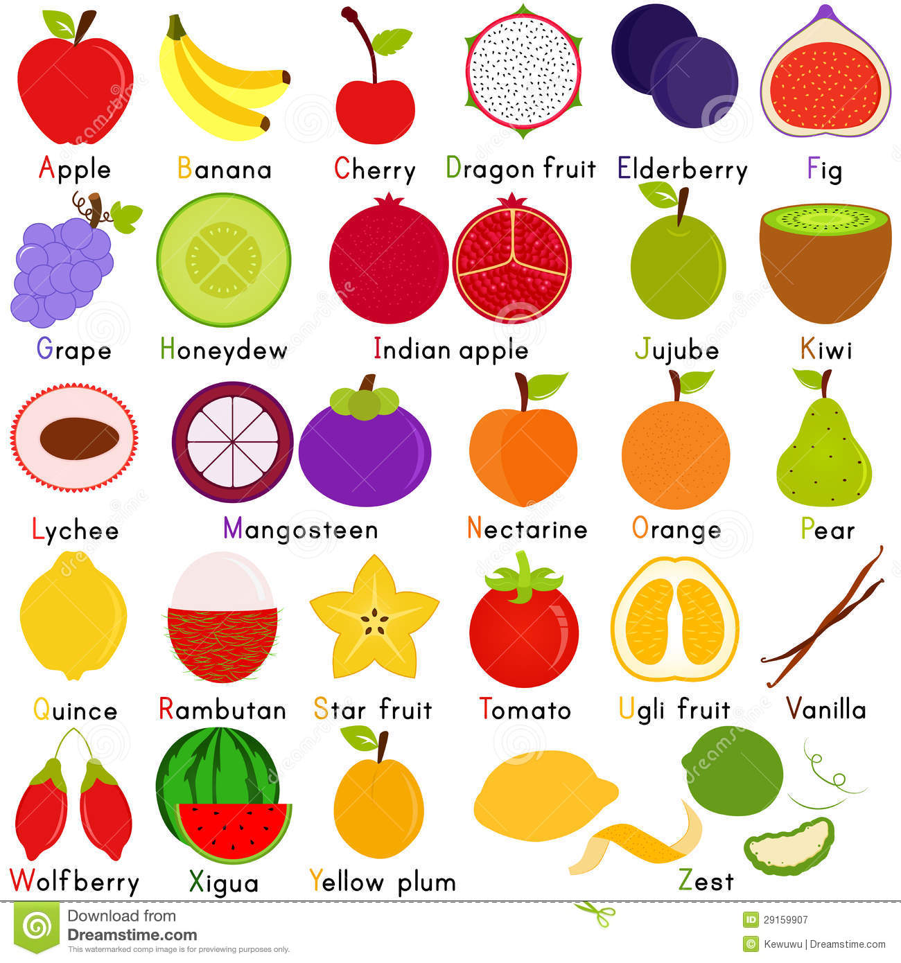 Royalty Free Stock Photography Vector Icons Fruit Alphabet To Z Image29159907 on Baby Animals Worksheet