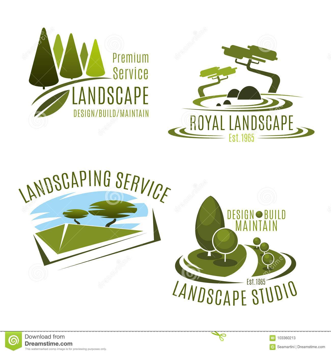 Download Vector Icons Gardening Landscape Design Company Stock Vector    Illustration Of Horticulture, Icon:
