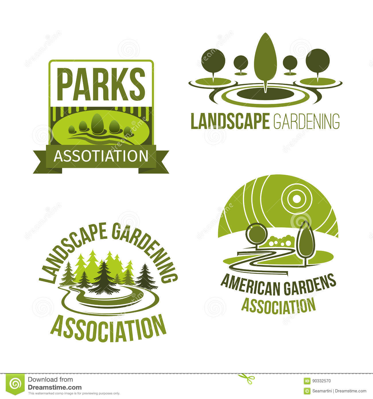 Attrayant Download Vector Icons For Landscape Gardening Company Stock Vector    Illustration Of Garden, Company: