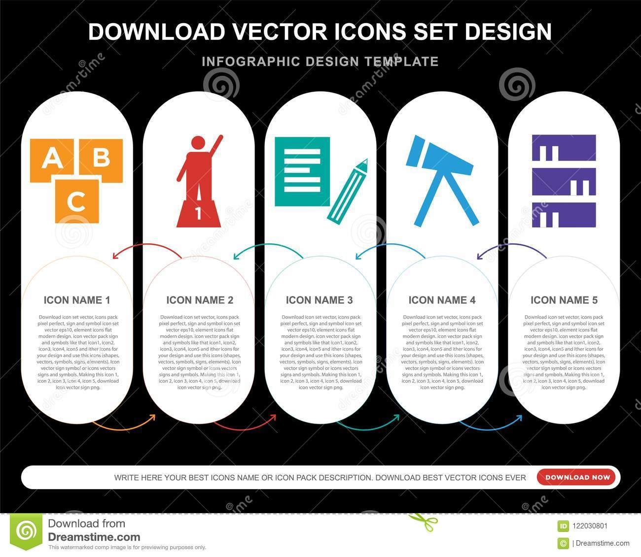 5 Vector Icons Such As Creche Podium New Document Telescope Bookshelf With