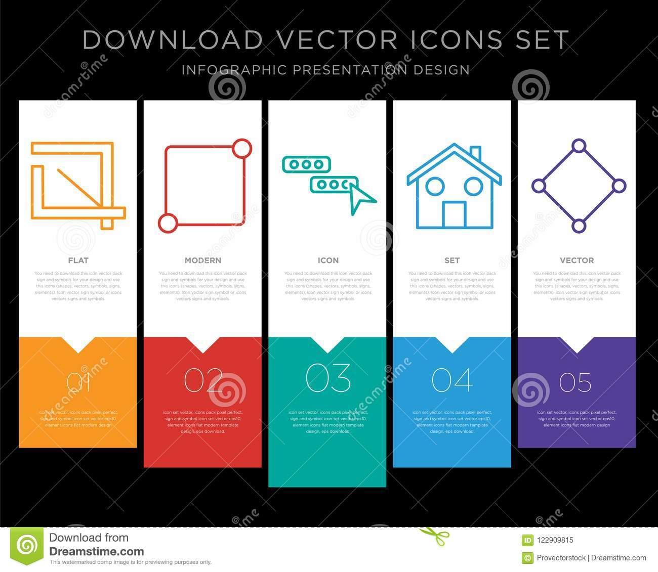 Crop infographics design icon vector stock vector illustration of 5 vector icons such as crop notification chat home connection for infographic layout annual report pixel perfect icon ccuart Image collections