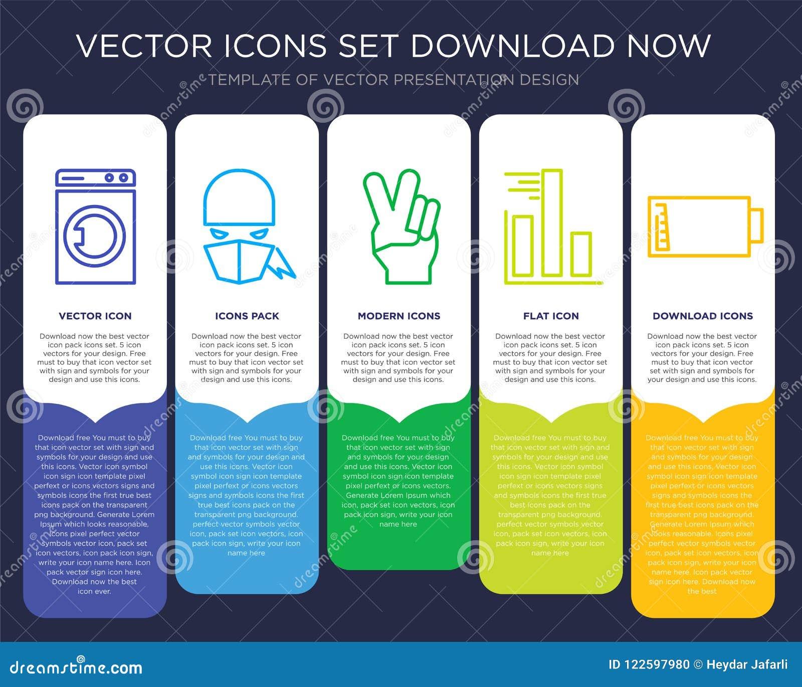 Laundry Infographics Design Icon Vector Stock Vector