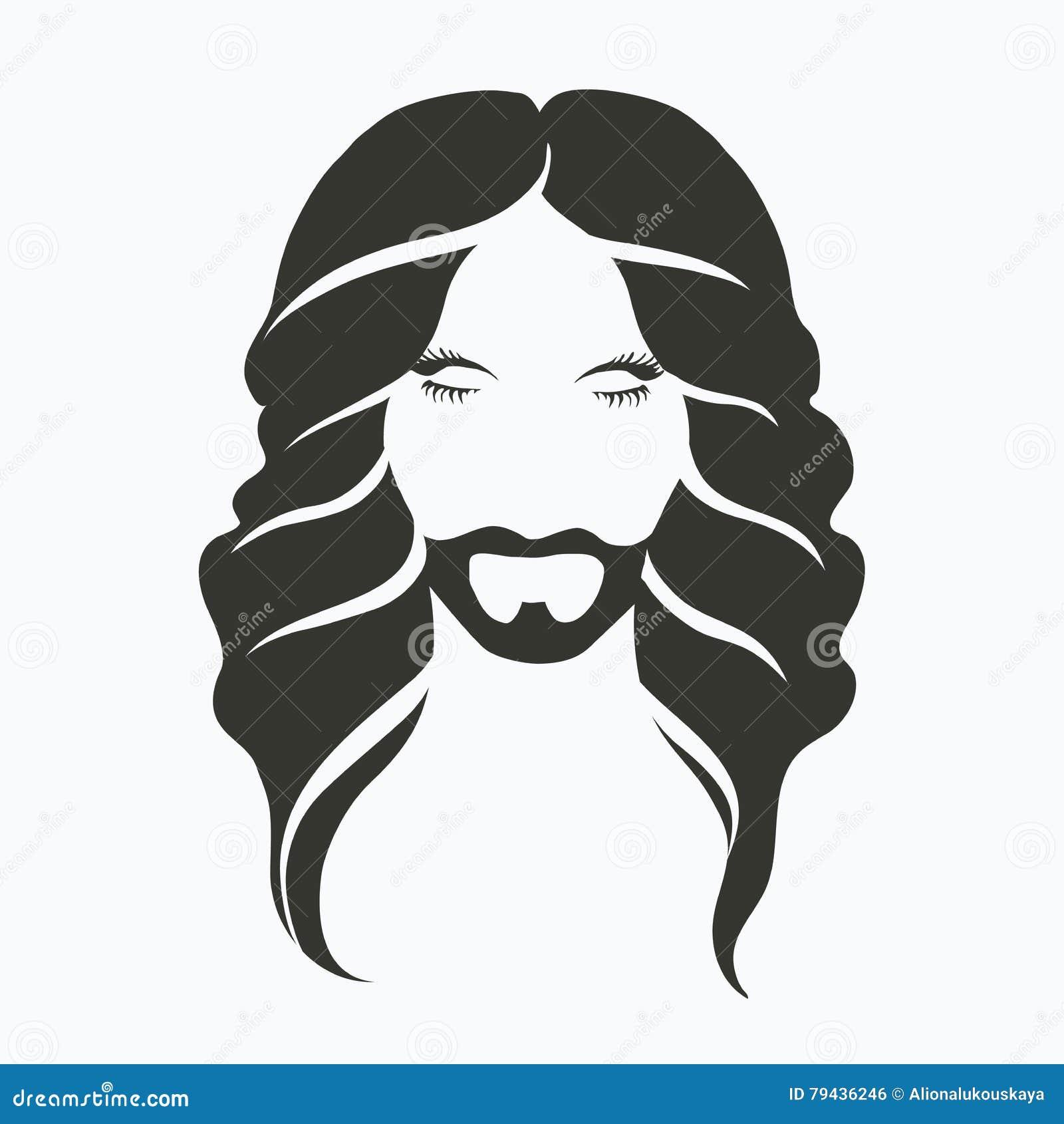 Vector Ikonenporträt Eines Mannes Mit Einem Bart Und Einem Schönen