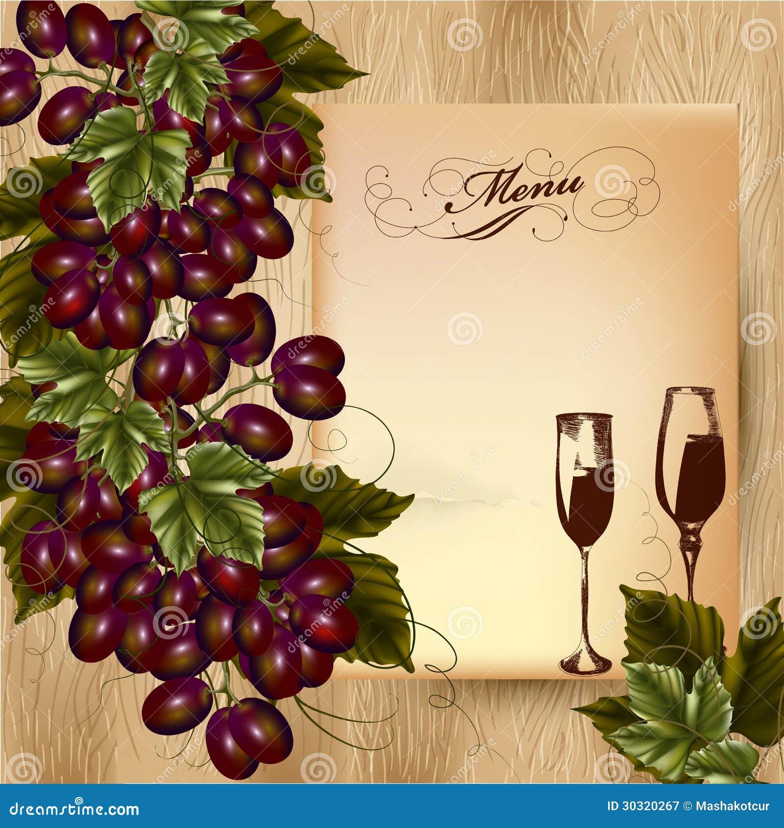 Disegno elegante del menu per il ristorante con il mazzo for Disegni e prezzi del mazzo